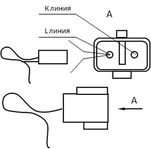 Электрическая схема системы впрыска ...